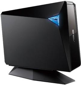 Оптический привод Blu-Ray RE ASUS BW-12D1S-U/BLK/G/AS, внешний, USB, черный, Ret
