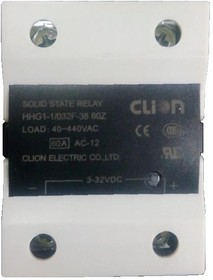 HHG1-1/032F-38-60A, Реле 3-32VDC, 60A/440VAC (zero-cross)