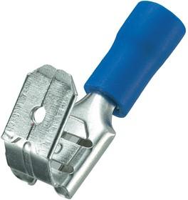 KLS8-01110-FBFD2-250 (MF2) (PBDD2-250), Клемма ножевая 6.3мм, розетка+вилка, провод 1.25-2.0 (синяя)