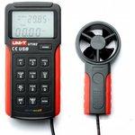 UT362, Измеритель скорости и температуры воздушного потока, термоанемометр с USB