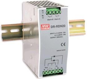 DR-RDN20, Вспомогательный модуль, блок резервирования питания, вх:21-28 VDC вых:24VDC,20A