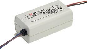 APC-16-700, AC/DC LED, 9-24В,0.7А,16.8Вт,IP30 блок питания для светодиодного освещения