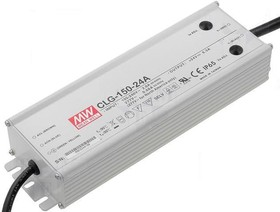 Фото 1/2 CLG-150-24A, AC/DC LED, 24В,6.3А,150Вт,IP65 блок питания для светодиодного освещения