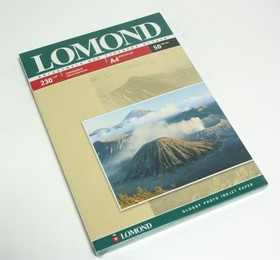 Фотобумага Lomond 0102022 A4/230г/м2/50л./белый глянцевое для струйной печати