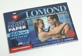 Фотобумага LOMOND 1103102, для струйной печати, 260г/м2, 20 листов