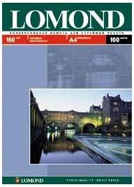Фотобумага Lomond 0102005 0102005 A4/160г/м2/100л./белый матовое для струйной печати