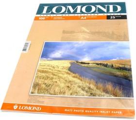 Фотобумага LOMOND 0102038, для струйной печати, A4, 100г/м2, 25 листов