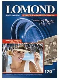 Фотобумага LOMOND 1101101, для струйной печати, A4, 170г/м2, 20 листов