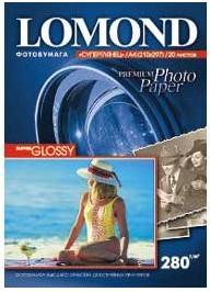 Фотобумага Lomond 1104101 A4/280г/м2/20л./белый высокоглянцевое для струйной печати