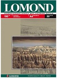 Фотобумага LOMOND 0102015, для струйной печати, A4, 190г/м2, 50 листов