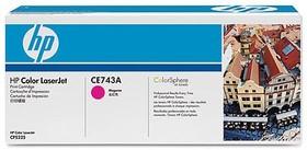 Картридж HP CE743A пурпурный