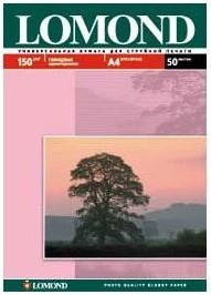Фотобумага LOMOND 0102018, для струйной печати, A4, 150г/м2, 50 листов