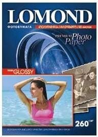 Фотобумага LOMOND 1103301, для струйной печати, A4, 260г/м2, 20 листов