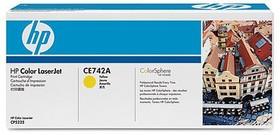 Картридж HP CE742A желтый