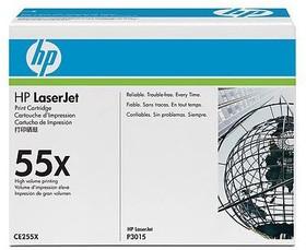 Картридж HP 55X CE255X, черный