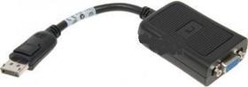 Переходник VGA HP DisplayPort (m) - VGA HD15 (f), черный [as615aa]