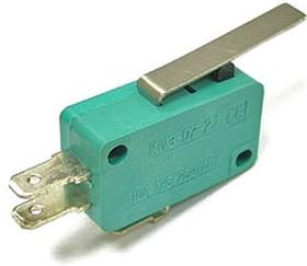 MSW-02, Микропереключатель с лапкой ON-(ON) (10A 125/250VAC) SPDT 3P