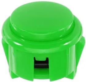 30mm-BL1-Green, Кнопка аркадная 30мм зеленая 16А/250V