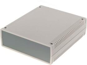 Фото 1/2 G765, Корпус для РЭА 156х180х52 мм, пластик, светло-серый, темно-серая панель