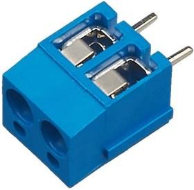 KLS2-305V-5.00-02P-2S (DG305-5.0-02P-12), Клеммник винтовой, 2-контактный, 5мм, прямой