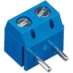KLS2-301R-5.00-02P-2S (DG301R-5.0-02P-12), Клеммник винтовой, 2-контактный, 5мм ...