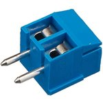 KLS2-350-3.50-02P-2S (DG350-3.5-02P-12), Клеммник, 2-контактный 3.5мм, прямой синий!