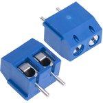 DG301-5.0-02P-12 (KLS2-301-5.00-02P-2S), Клеммник винтовой, 2-контактный, 5мм, прямой