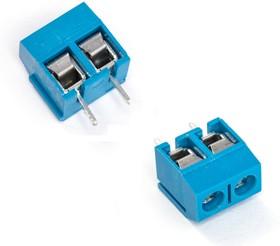 KLS2-306V-5.00-02P-2S(С) (DG306-5.0-02P-12), Клеммник винтовой, 2-контактный, 5мм, прямой