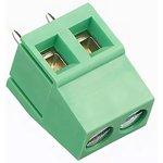 KLS2-128-5.00-02P-4S (DG128-5.0-02P-14), Клеммник 2-контактный, 5мм, прямой