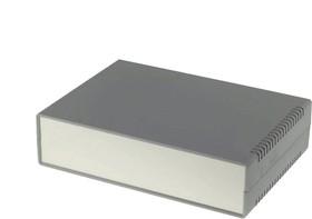 Фото 1/2 G729A, Корпус для РЭА 260х180х65 мм, пластик, темно-серый, алюминиевая панель