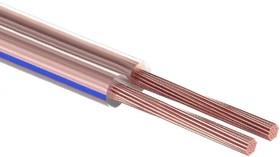 Фото 1/3 01-6203-6, Кабель акустический 2х0,50 мм², прозрачный BLUELINE, бухта 100 м