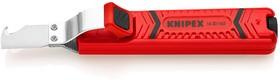Фото 1/2 Стриппер для кругл. кабеля, прямой нож и лезвие-крючок, рез: по окружности и продольный, зачистка: d 8 - 28 мм, L-130 мм,, держатель, KABELM