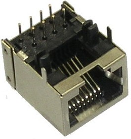 TJ8-8P8, Гнездо RJ-45 8P-8C экранированное