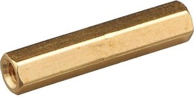 PCHSS-25, Стойка для п/плат,шестигр., латунь, М3, 25 мм