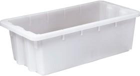 Ящик п/э универсальный 600х300х190 конусный белый морозостойкий 07788