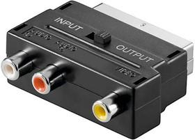 PL1129, Переходник SCART - 3 RCA с переключателем | купить в розницу и оптом