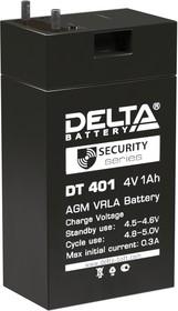 DT401, Аккумулятор свинцовый 4В-1Ач 35х22х64