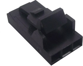 Фото 1/4 104257-2, Корпус разъема розетка на кабель 3-контактная шаг 2.54 (без контактов)