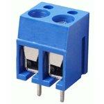 305-021-12(TB-02A), Клеммник 2-контактный, 5мм, прямой