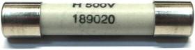 189020.2; 2 А, 500 В, 6.3х32 мм, F, Предохранитель керамический быстродействующий