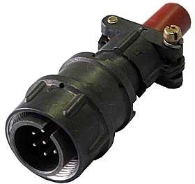 2РМ18КПН7Ш1В1(ПЕРЕКРУТ), Вилка на кабель с прямым патрубком для неэкранированного кабеля
