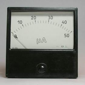 22087 (М2003 50МК), Амперметр 50мкА (80х80)