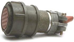 2РМД27КПН19Г5В1, Розетка на кабель с прямым патрубком для неэкранированного кабеля