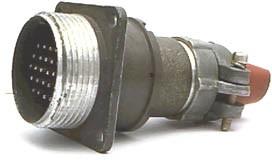 2РМ27БПН24Ш1В1, Вилка на блок с прямым патрубком для неэкранированного кабеля