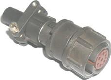2РМ18КПН7Г1В1 (ПЕРЕКРУТ), Розетка на кабель с прямым патрубком для неэкранированного кабеля