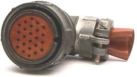 2РМ27КУН24Г1В1, Розетка на кабель с угловым патрубком для неэкранированного кабеля