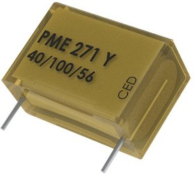 PME271Y447MR30, Cap Film Suppression Y2 0.0047uF 1000VDC/250VAC Paper 20% (13.5 X 5.1 X 10.5mm) Radial Wound 10.2mm