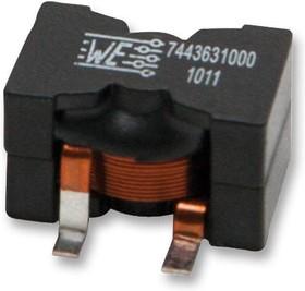 Фото 1/2 7443641000, Силовой Индуктор (SMD), 10 мкГн, 30 А, Экранированный, 37 А, Серия WE-HCF, 28.5мм x 19.5мм x 18.5мм