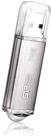 Флешка USB SILICON POWER Ultima II-I Series 8Гб, USB2.0, серебристый [sp008gbuf2m01v1s]