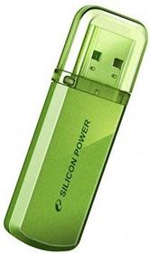 Флешка USB SILICON POWER Helios 101 8Гб, USB2.0, зеленый [sp008gbuf2101v1n]